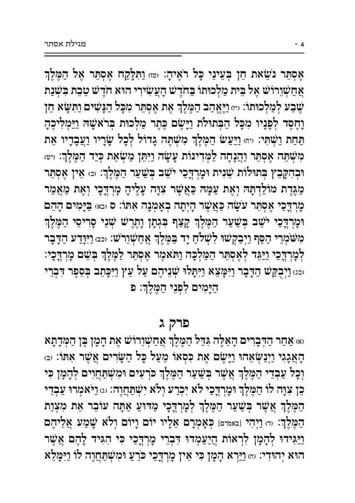 מגילת אסתר 4